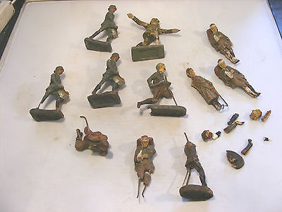 Vintage Elastolin  Durso Composition Soldiers