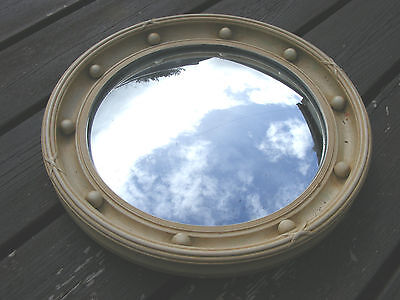 Vintage Wooden Framed Ball  Convex Mirror