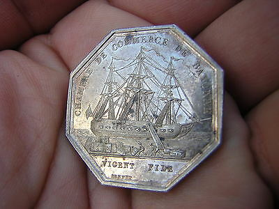 RARE 1800s Jeton Argent Louis Philipe I Sterling Silver France Coin Token SHIP