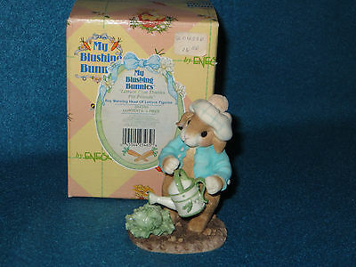 """lettuce Give Thanks For Friends"" 1996 Enesco My Blushing Bunnies  #204390 - Nib"
