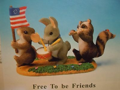 Charming Tails FREE TO BE FRIENDS Patriotic Mouse Figurine FITZ & FLOYD 89/116