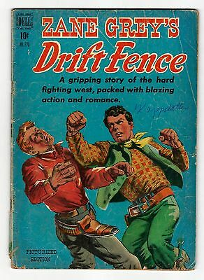 Zane Grey's Drift Fence #270 - Four Color - painted wrapound cover