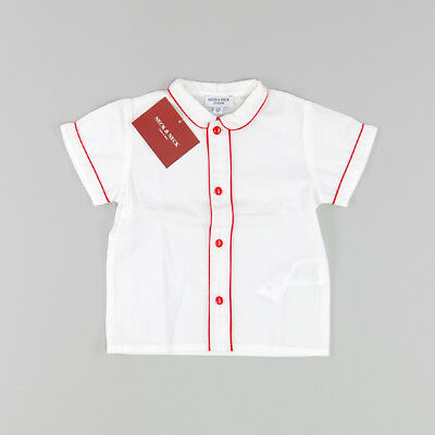Camisa color Blanco marca Neck & Neck 18 Meses