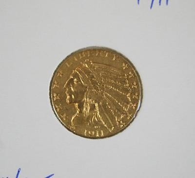 1911 United States Gold $5.00 Indian Head - Free Postage in Australia
