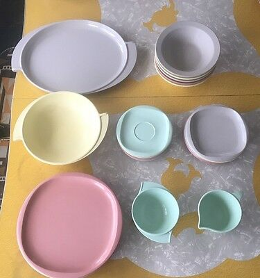 Vintage Boonton Ware Melmac Variety 23 Piece Lot Different Colors