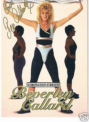 Beverly Callard Actress Coronation St Hand Signed Fitness Photograph 6 X 4