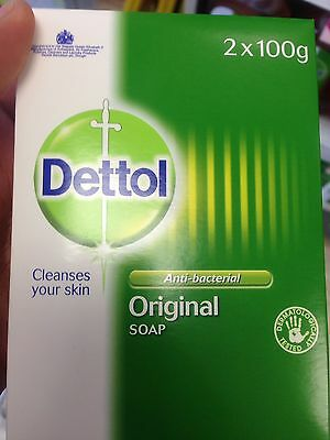 TWIN PACK OF DETTOL ANTI BACTERIAL SOAP BAR (2 X 100G) Plus Free Cream Tube