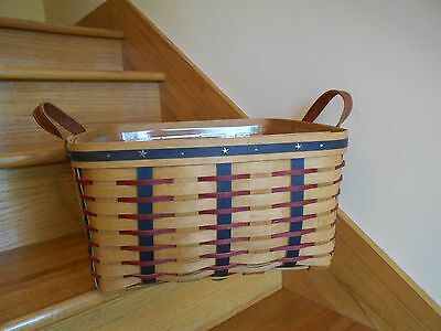 Longaberger Small Wash Day Basket Set Proudly American nice big *free shipping!*