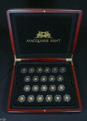 Smallest Gold Coins of the World Collection in Timber Case with Certificates