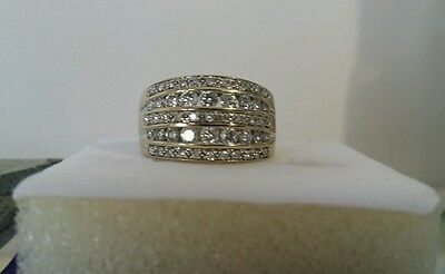 9ct Solid Yellow Gold 1ct Diamond Ring