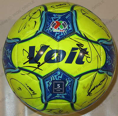 2017 TIGRES UANL team signed VOIT soccer ball adidas jersey 18 AUTOS w/ PROOF