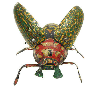 LEHMANN #431 CRAWLING BEETLE TIN WIND UP TOY GERMANY 1895 - 1935 Works Great!