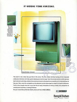 BANG and OLUFSEN Beovision Avant ADVERT - Original 2008 Advertisement