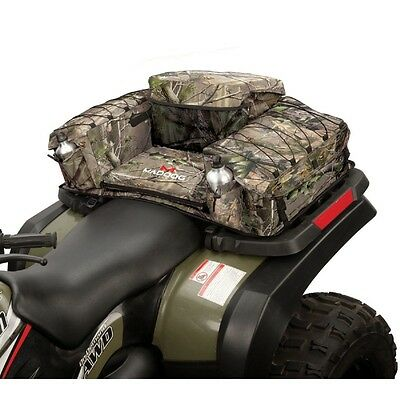 Maddog Colemen ATV Rear Padded Bottom Bag - 3 Compartments - RealTree APG Camo