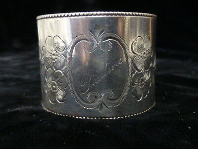 Antique American Floral Design Sterling Napkin Ring
