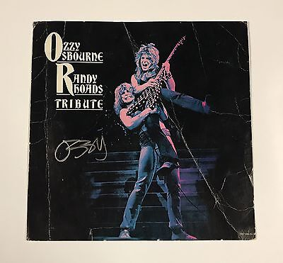 Ozzy Osbourne SIGNED Randy Rhoads Tribute LP Record Promo Display Scarce!
