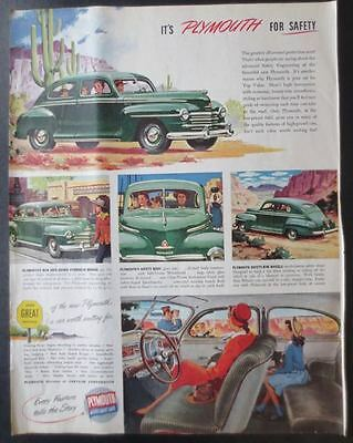 Vintage 1946 and 1951 Automobile Large Size Magazine Ads (7)