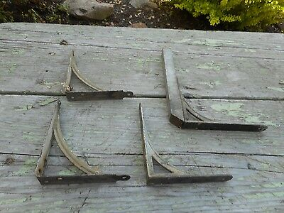 Lot of 4 Antique OLD Vintage Wall Hanging SHELF Brackets REPURPOSE