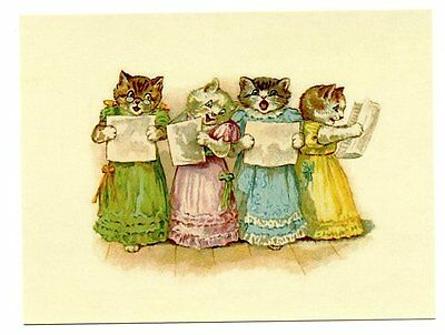 modern cat postcard Thompson ladies choir w pretty frocks sing from sheet music