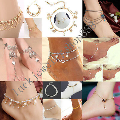 Women Bell Bead Anklet Ankle Chain Bracelet Barefoot Sandal Beach Foot Jewellery