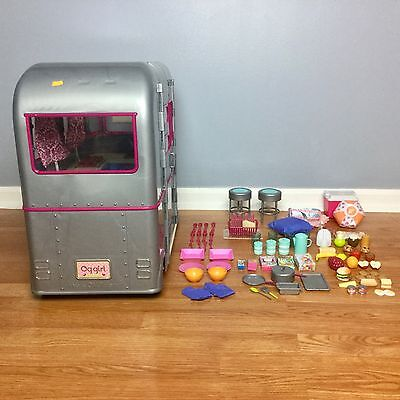 """Our Generation DOLL CAMPER RV See You Silver VGUC For American Girl 18"""" Dolls"""