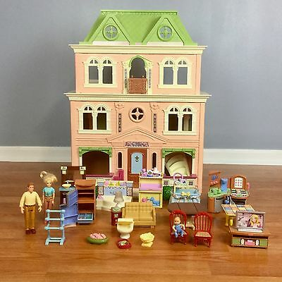 Fisher Price Loving Family GRAND MANSION DOLLHOUSE LOT People Furniture