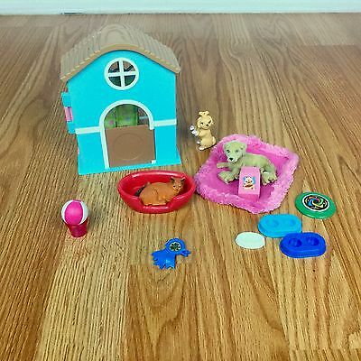 Barbie PUPPY DOG PLAYSET LOT Doghouse Puppies Cat Accessories Doll Pets