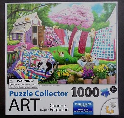 1000 Pieces Puzzle Collector Art By Corinne Ferguson - Laundry Day