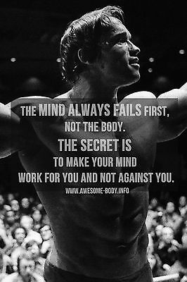 Workout Gym Fitness Quotes High Quality wall Art poster Choose your Size