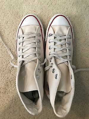 Converse Vintage Made In Usa 1980s White High Top Shoes Size 7.5 Mens
