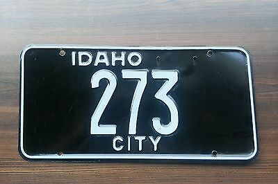 1953 Idaho City use Exempt license plate