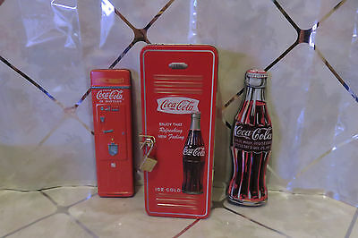 Set of 2 Coca Cola Ink Pens in Coke Tins & 1 Larger Locker Tin w/Wrist Watch NEW