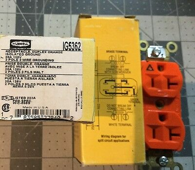 Lot of 2 Receptacle, Hubbell Wiring Device-Kellems, IG5362