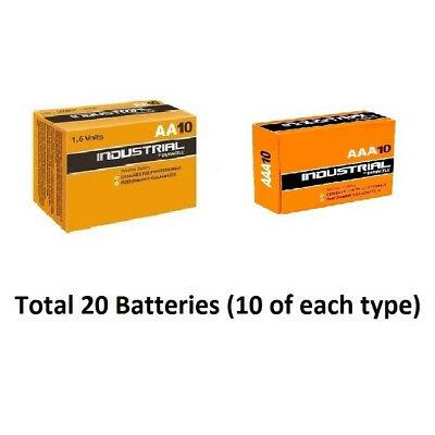 10 x AA & AAA Duracell Industrial Alkaline 1.5v  Multi Batteries for Electronics