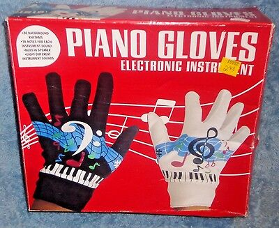 Piano Hand Music Gloves Playable Interactive Electronic Instrument TESTED WORKS