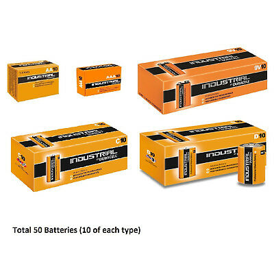 10x AA / AAA / C / D / 9V Duracell Industrial Alkaline Batteries for Electronics