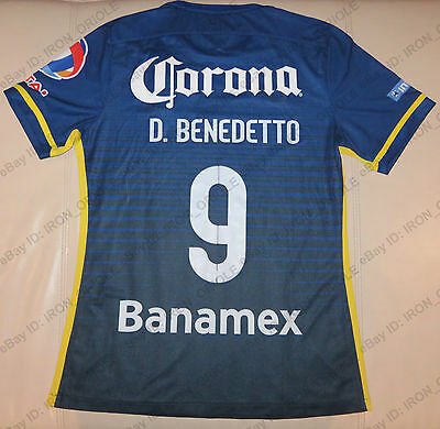 2015 CLUB AMERICA game used authentic MATCH WORN jersey #9 DARIO BENEDETTO