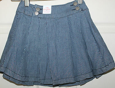 New with Tags Girls Striped Pleat Skirt size 5  NEW