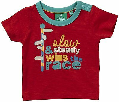 Little Green Radicals Slow & Steady Wins The Race Tee Baby - Red-9-12 Months