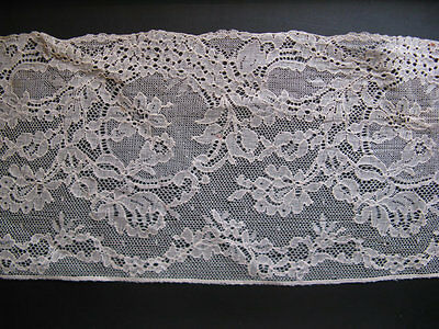 Beautiful antique French lace! High 14 cm, length 1 m...20s!