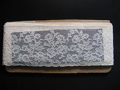 "Beautiful antique French lace from Calais! High 4"", length c. 40""...ca. 1925!"