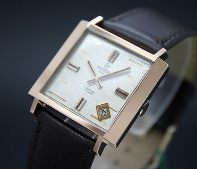 New Old Stock 60s POTENS square rose gf mechanical vintage watch NOS FHF 81-2