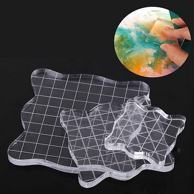 Clear Block Scale Acrylic Pad Essential Tools Transparent Stamp Scrapbooking