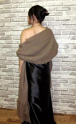 Gorgeous Uzbek Handmade & Homemade Natural Woolen Shawl Long Scarf A8871