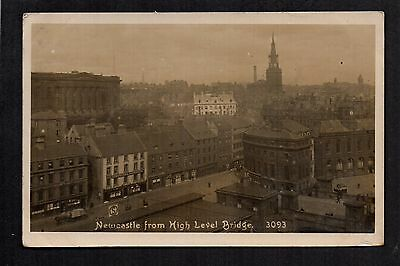 Newcastle upon Tyne from High Level Bridge - real photographic postcard