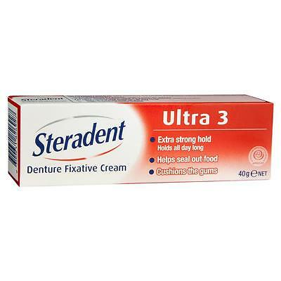 Steradent Ultra 3 Denture Fixative 40g