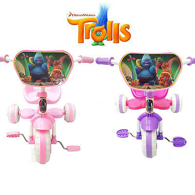 New Trolls Dreamworks Bike Trike Tricycle Kid Girl Child 3 Wheel Car Ride On Toy