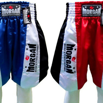 MORGAN boxing shorts - satin training competition fight trunks classic fancy