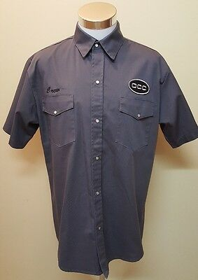 Orange County Choppers OCC Authentic New York Garage Gray Crew Shirt Size XL