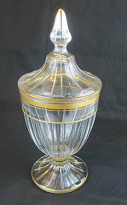 Antique Heisey Crystal Covered Candy Dish